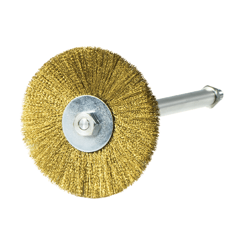 Circular Holiday Brush for the testing of protective coatings on the internal diameter of pipes using the Holiday Detector