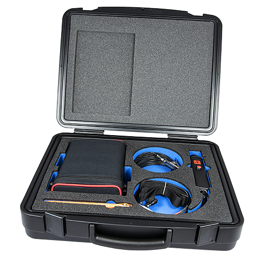 Holiday Detector is a DC Holiday Tester for detecting pinholes and flaws in coatings on conductive substrates